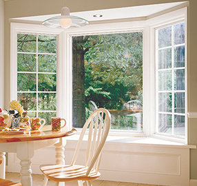 Pella wood bay window