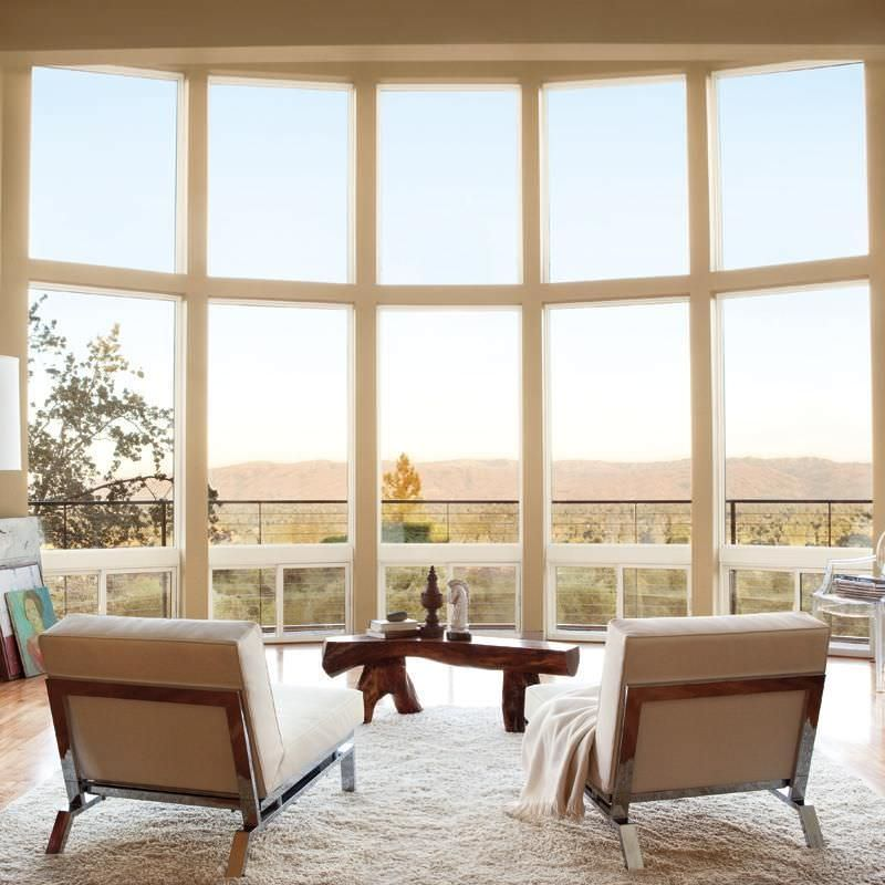 Marvin Integrity all-ultrex fiberglass casement windows overlooking desert scene