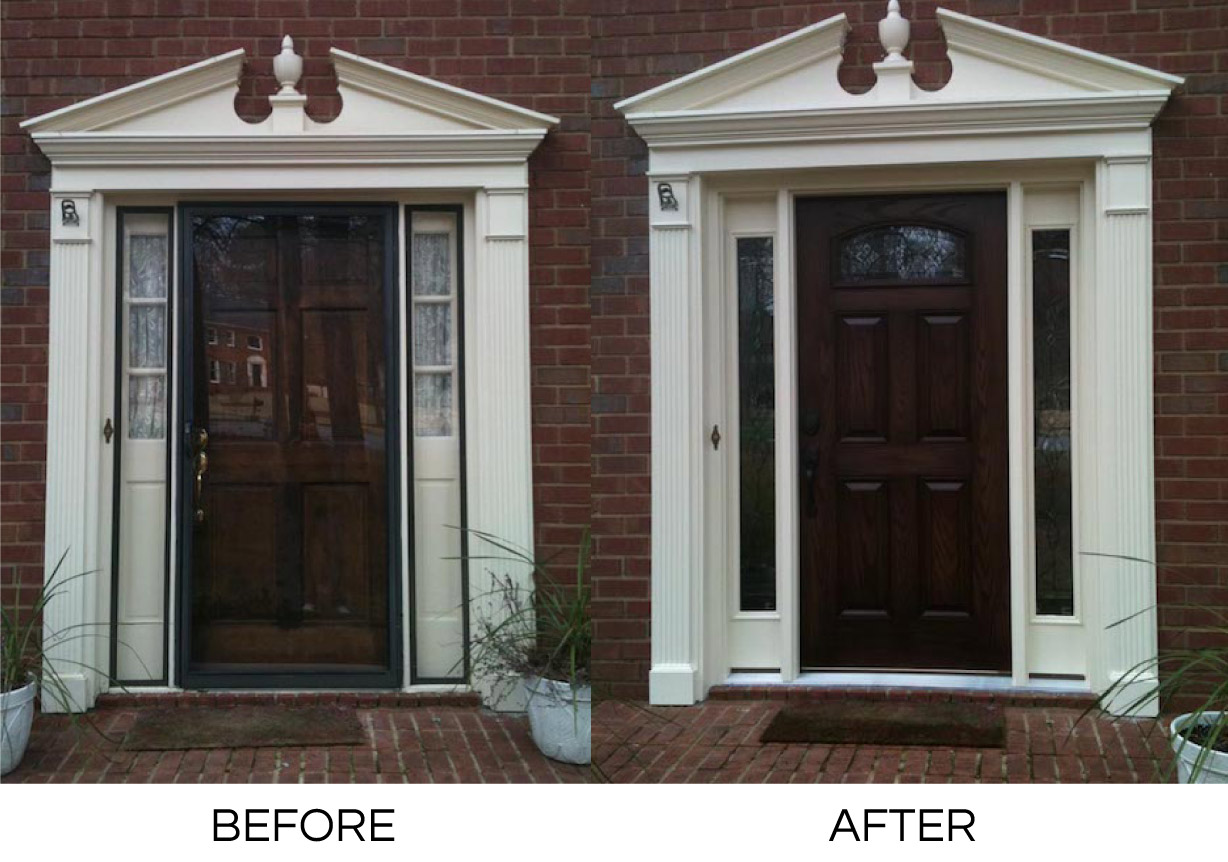 Entry doors with decorative trim hometowne windows and for Exterior doors and windows