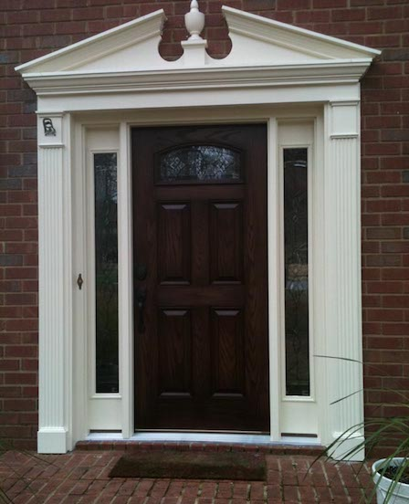 Replacement Entry Door And Sidelites With Decorative Moulding