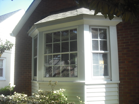 Exterior Marvin Bay Window Before Install