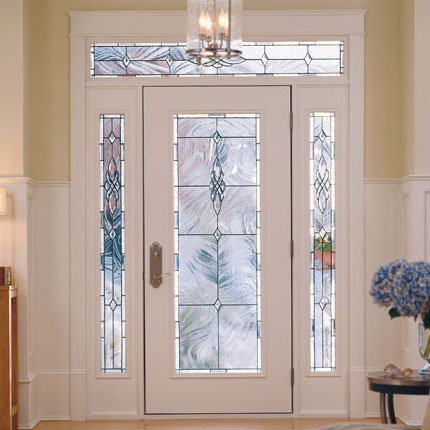 Pella replacement entry door with glass