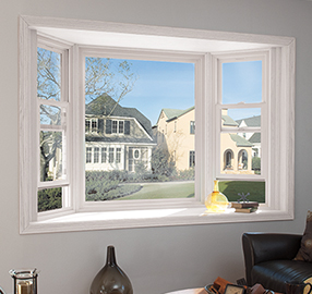 pella impervia fiberglass bay bow window
