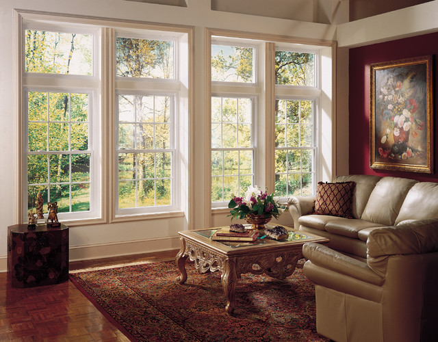 Soft lite vinyl double hung windows hometowne windows for Window treatments for double hung windows