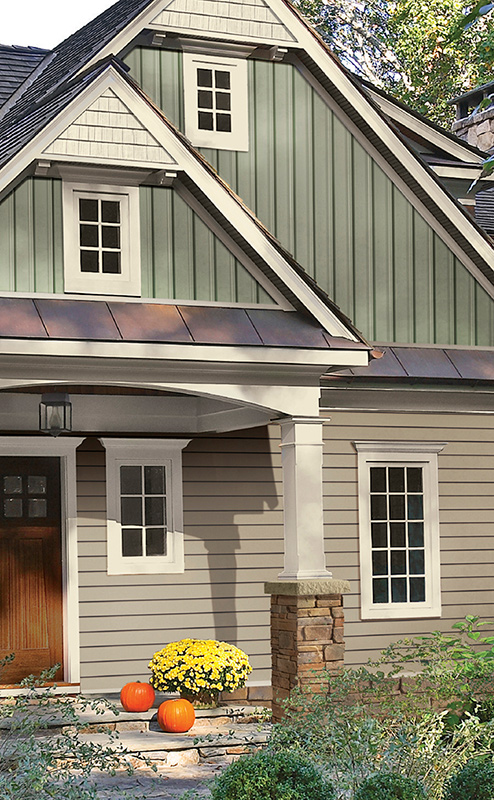 decorative trim and siding